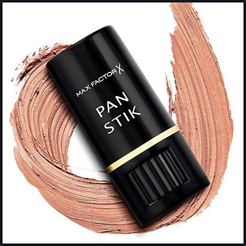 Max Factor - Fondotinta stick Pan Stik, n° 14 Cool Copper, per pelle da normale a secca, 1 pz. (1 x 9 g)