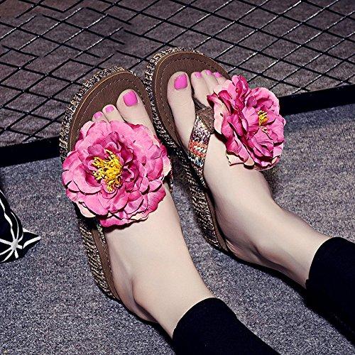 Estate Sandali 4.5cm pistoni spessi di estate Pattini handmade della spiaggia in rilievo Pistoni semplici antisdrucciolevoli con 12 generi di colori Colore / formato facoltativo #5