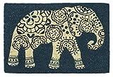 Entryways Elefant 40 x 60 Rutschfeste Coir-Fussmatte, blau, 40 x 60 x 1.5 cm