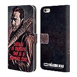 Head Case Designs Offizielle AMC The Walking Dead Lucille Vampir Fledermaus Negan Brieftasche Handyhülle aus Leder für Apple iPhone 6 Plus/6s Plus