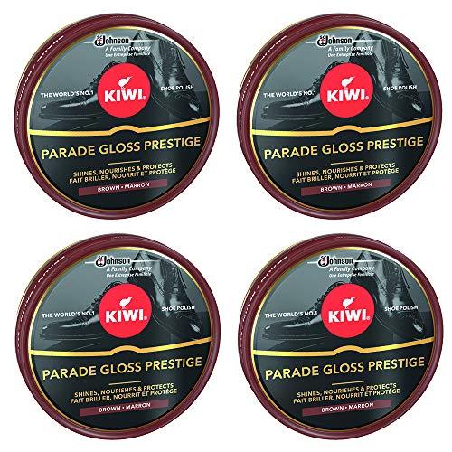 Kiwi - Crema en Lata para Calzado Shoe Polish Marrón Oscuro [Pack de 4]
