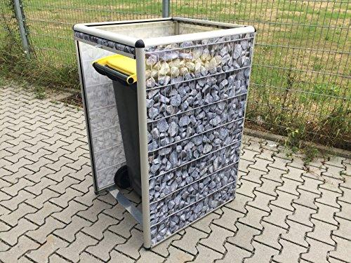ToPaBox Mülltonnenbox, lorbeer, 80 x 210 x 122 cm, 4251260905932 - 5