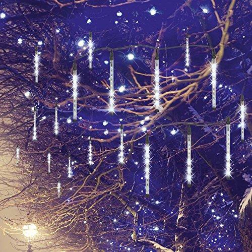 EASYmaxx Lichterregen LED-Lichterkette mit Meteorit-Effekt, Kunststoff, 4 W, schwarz (Kabel), 8 Meter Länge