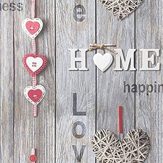 Fine Decor Love Your Home Wallpaper - Red FD41718 by Fine Decor
