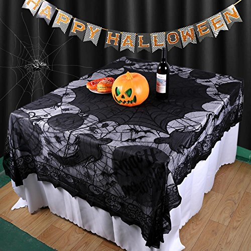 OurWarm Halloween Tischdecke Spider Web Tischdecke Halloween Party Home Dekorationen 60 x 80 Zoll (Spider Halloween)