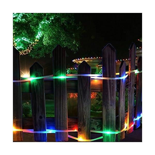 a4f71522912 LE Cadena de luces de cuerda Multicolor Exteriores 10m 120 LED 8 ...