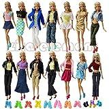 ZITA ELEMENT 10 vestiti Handmade dei vestiti di modo di stile della miscela +10 accoppiamenti dei pattini per la bambola di Barbie XMAS GIFT