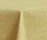 Maltex24 - Tovaglia Rettangolare in Tessuto, Effetto Lino, Impermeabile, 160 x 320 cm, Sabbia, ca. 160 x 320 cm