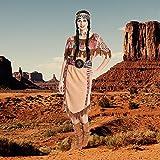 Kostümplanet® Indianerin-Kostüm Damen Frauen lang Indianer-Kostüm Wilder Westen große Größe 52-54 -