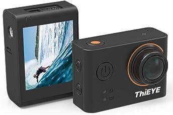 ThiEYE 4K Wifi Sports Action Kamera mit austauschbaren Filtern 360 Grad Rotation 60 Meter Wasserdicht 1080p HD Video Cam mit vollem Zubehör