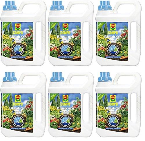 6x 2,5litri Compo Blaukorn NovaTec fertilizzante universale liquido, NPK 8+ 8+ 6