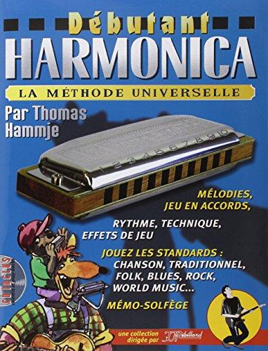 Dbutant Harmonica Livre + CD por Hammje Thomas