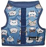 Beroni Katzengeschirr Cat Walking Jacket Brustgeschirr Weste ausbruchsicher No Escape Blau Wasserabweisend (Medium)