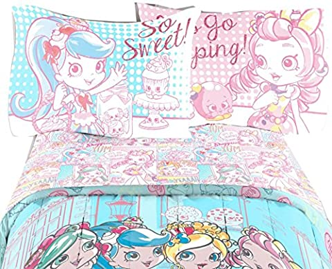 Shoppies Brand New Excellent Designed Multicolored Girls Single Sheet Set