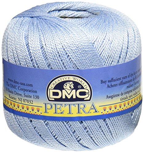 DMC Petra Garn, 100% Baumwolle, blau, Größe 5 -