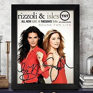 Angie Harmon & Sasha Alexander Autographed Signed Photo 8x10 Reprint RP PP [Rizzoli & Isles]