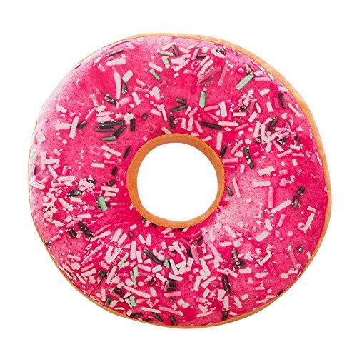 NEEKY Kissen Dekokissen Sofakissen Kissenhülle Zierkissen Kopfkissen Auto Kissenbezüge - Gefüllte Sitzkissen Sweet Donut Kissenbezug Fall Spielzeug(40cm x 40cm x 12cm)