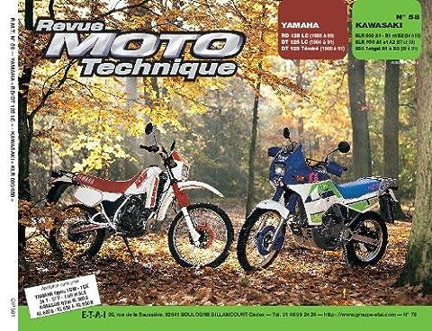 Revu Moto Technique, n°58 : Yamaha RD 125 LC (1995 à 89) DT 125 LC (1994 à 91) DT 125 Tenere (1988 à 91) - Yamaha KLR 600 A1-B1 et B2 (84 à 86) KLR 650 A1 et A2 (87 et 88) 650 Tengai B1 à B3 (89 à 91)