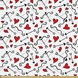 ABAKUHAUS Valentines Stoff als Meterware, Pfeile des Amors,