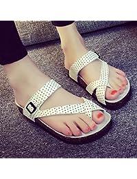 ZHANGRONG-- Sandalias Del Dedo Del Pie Zapatos De Mujer De La PU De Primavera Y Verano Sandalias Abiertas ( Color...
