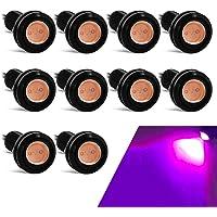 luci decorative luci al neon 61 cm indicatori di direzione impermeabili 2 strisce flessibili a doppio colore per fari CARLITS per luci di marcia diurna luce bianca e ambra