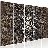 murando - Bilder Mandala 225x90 cm Vlies Leinwandbild 5 TLG Kunstdruck modern Wandbilder XXL Wanddekoration Design Wand Bild - Abstrakt Kunst f-A-0491-b-n