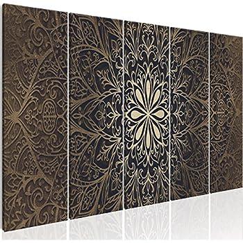 murando bilder mandala 200x80 cm vlies leinwandbild 5 teilig kunstdruck modern. Black Bedroom Furniture Sets. Home Design Ideas