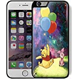 winnie the Pooh Balloon in galaxy For iPhone 6 plus /6s Plus Black case