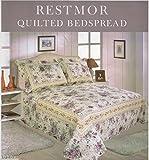 Quilted Patchwork Design Bedspreads - Abbey - Floral (SUPER KING 260CM X 280CM)