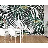 papier peint Bender Tropical Leaves Jungle Mural TV papier peint papier peint 3d foot gris noir poster pierre photo salon new york graffiti chambre -300cm×210cm
