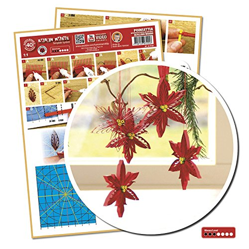 Quilling Template Poinsettia/ Weihnachtsstern (ohne Pappe)