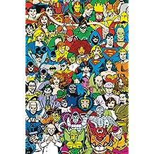 Poster DC Comics Super-héros Retro cast (61cm x 91,5cm)