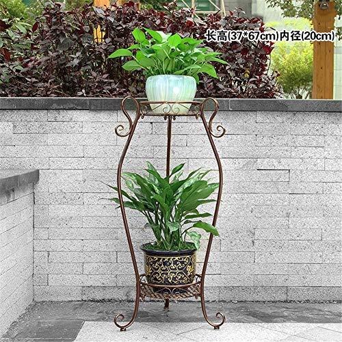 Exing Blumen-Stand, Boden-Anlagen-Stand-Eisen-mehrschichtiges Blumen-Regal-Balkon-Wohnzimmer-Innenmultifunktionsblumen-Topf-Gestell (Farbe : C)