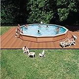 Schwimmbecken Azteck Pool Rundformbecken Aufstellbecken Höhe 140 cm ∅ 5,40 m