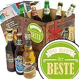 Du bist der Beste ❤️ Geschenkset Bier mit Bieren der Welt ❤️ INKL | 6x Geschenk Karten für jeden Anlass + 1x Bier - Bewertungsbogen + 3 Urkunden ❤️ Individuelle Geschenk-Box - Du bist der Beste ❤️