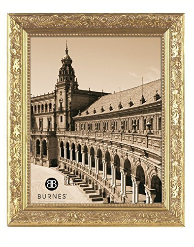 Burnes of Boston 266445 Windsor Leaves Picture Frame, 4-Inch by 5-Inch, Gold by Burnes of Boston