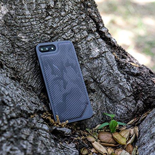 iPhone 7 Hülle, X-Doria (Defense Lux) Hülle für das iPhone 7, Dual Protection, stoßabsorbierende, Premium-Schutz iPhone 7 Fall(Schwarz) Grau