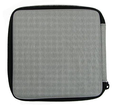 flashwoife / Archgon EVA Nylon Case with board in Silber Hartschalentasche Schutzhülle für externe DVD CD Blu-Ray (Blue Ray Player Silber)