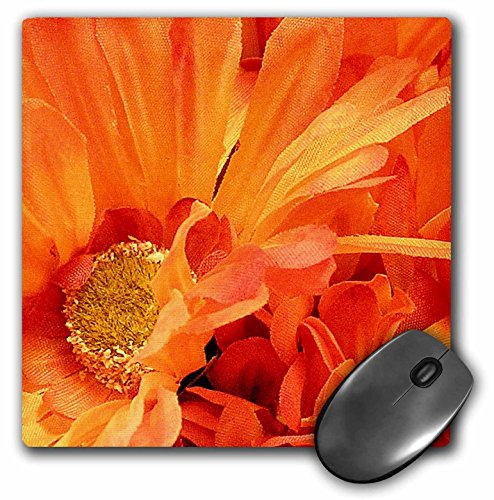 3dRose LLC 8 x 8 x 0.25 Inches Mouse Pad, Bright Orange Flowers (mp_23419_1)