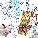 German Trendseller - 6 x Livre de coloriage ┃avec des Animaux┃Cahier de...