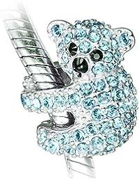 Koala Bear Charm Bead - Sterling Silver 925 - Gift boxed