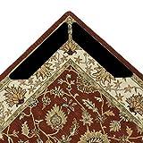 12pcs grippers tapis, mise à niveau lavable réutilisable autoadhésifs anti à friser et antidérapant tapis grippers coussinets épais premium tapis gripper pour tapis les coins et les bords(noir)