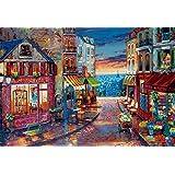 1000 piece jigsaw puzzle-twilight view world micro micro piece (26x38cm)