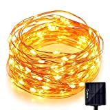 #10: Quace Solar Light 60 Pc Yellow LED Festival Copper String Light Diwali Home Decoration