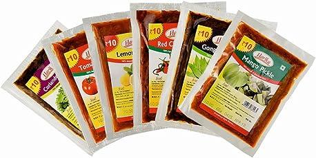 Harika Pickles (Travel Packs/Sampler Packs) - [Combo Pack 6 * 65gms]