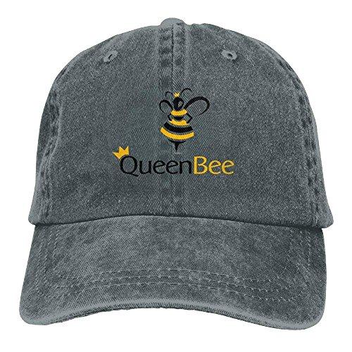 Vintage Denim Cap Hat Queen Bee Six-Panel Adjustable Sports Trucker Baseball Hat for Adults Unisex ABCDE11493