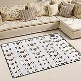 Alaza Super rutschhemmender Cute Lovely kawaii Emoticon Emoji-Bereich Teppiche/Boden Matte/Bezug Teppiche mit kleine Menge Speicher Schaumstoff für Wohnzimmer/Schlafzimmer/Esszimmer/Kinder/Home Dekorieren 3x 2Füße, multi, 3 x 2 Feet