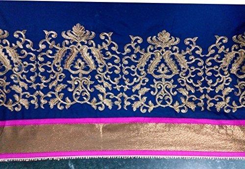 Janasya Women's Chiffon Saree (JNE0655.D _Multi-Coloured)