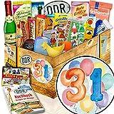 31. Geburtstag Geschenke / DDR Set 24tlg. / 31 Jahre Geburtstag