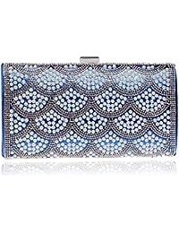 Borsetta da Sera Donna Pochette Cerimonia Elegante Pochette da sera da donna  con strass scintillio perlato 32bb11fb0ed